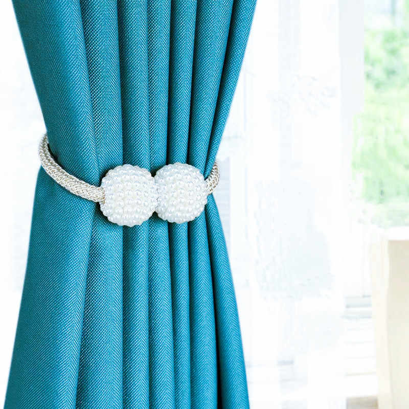 1pcs Pearl Magnetic Curtain Clip Tieback Buckle Clips Hanging Ball Buckle Tie Back Curtain Accessories Home Decor