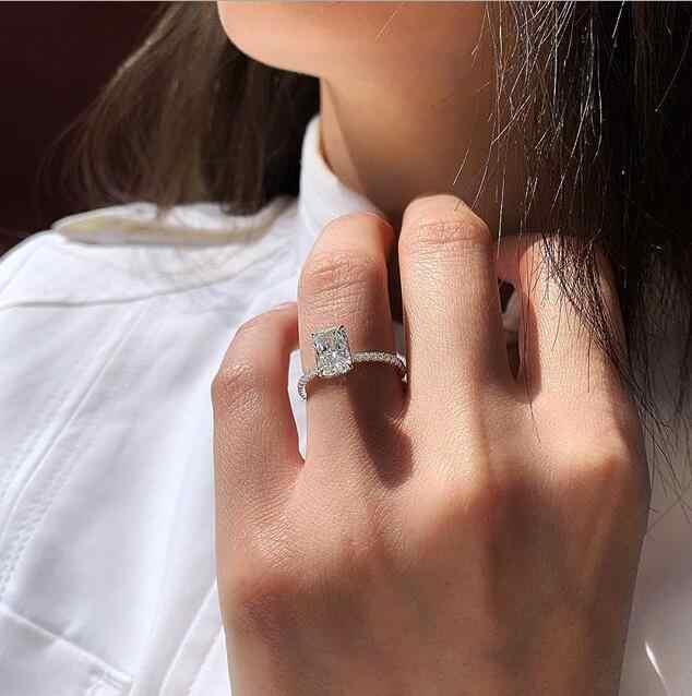 موضة كريستال قطرات الماء على شكل خواتم الزفاف المرأة الزركون خواتم الخطبة البهجة مجوهرات