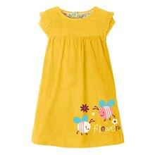 Платья для девочек, лето 2021, детская вещь в горошек для девочки, Vestiods, детская одежда, розовые платья с принтом кролика для малышей, От 2 до 7 ле...