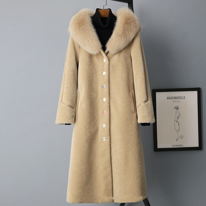 Autumn Winter Coat Women Clothes 2020 Wool Jacket Real Fur Coat Korean Streetwear Vintage Suede Lining Tops Sheep Shearling 3278