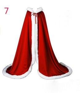 Image 3 - ויקטוריאני כלה קייפ Elves קייפ סאטן חתונה גלימת סלעית עם פו פרווה לקצץ חג המולד קייפ בעבודת יד מימי הביניים גלימה