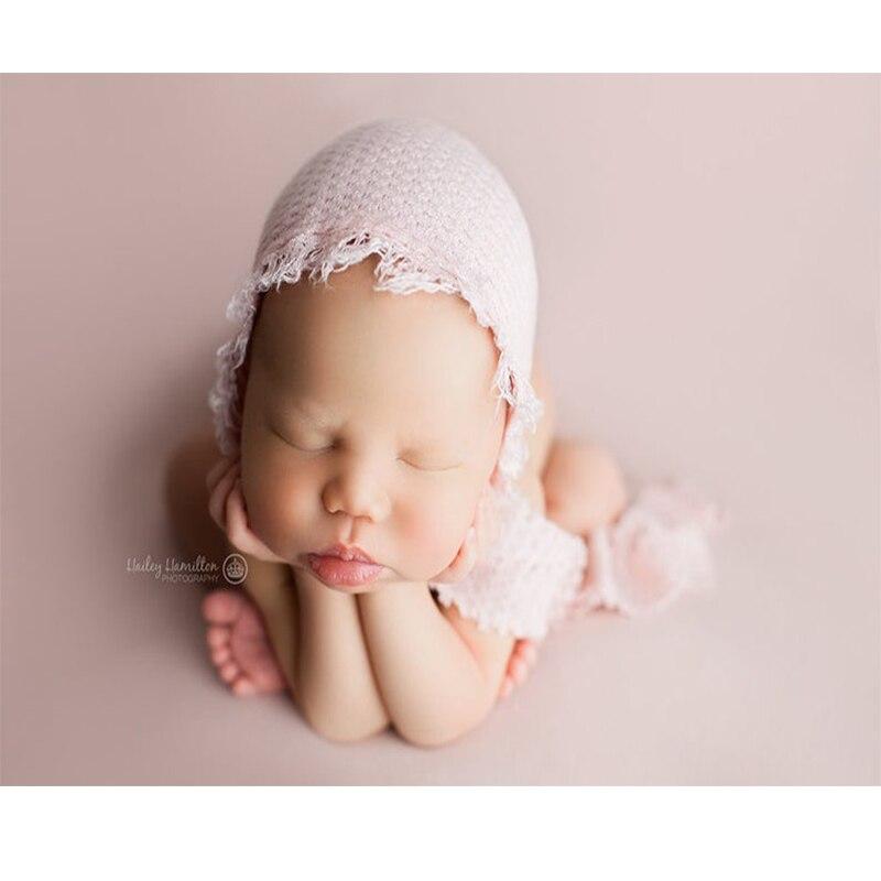 Fotoshooting Baby Fotografie Strick Kostüm Hut Neugeborenen Set