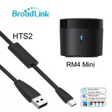 Broadlink RM4mini Wifi Ir Afstandsbediening Voor Airconditioning Tv Set Top Box Temp Vochtigheid Sensor HTS2 Werken Met alexa Google
