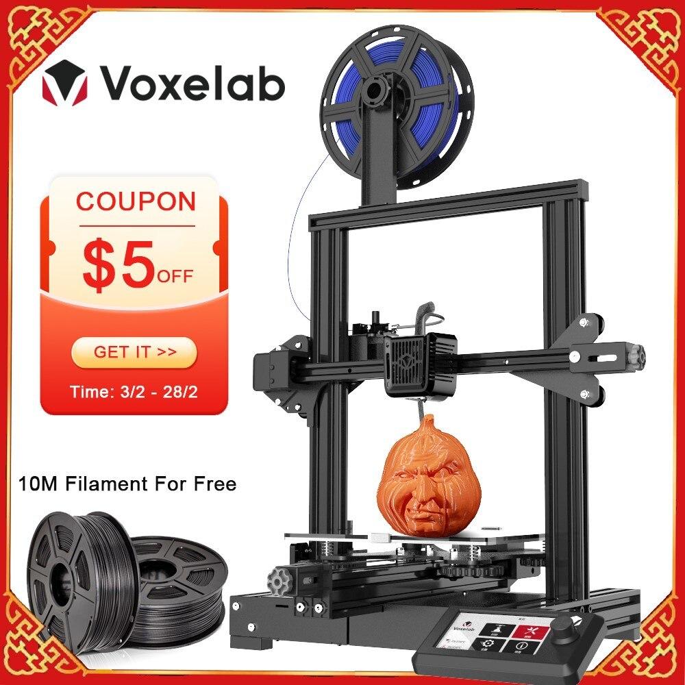 Voxelab aquila diy kit de impressora 3d mudo currículo falha de energia impressão atualização plataforma de alta precisão tamanho grande entrada-nível
