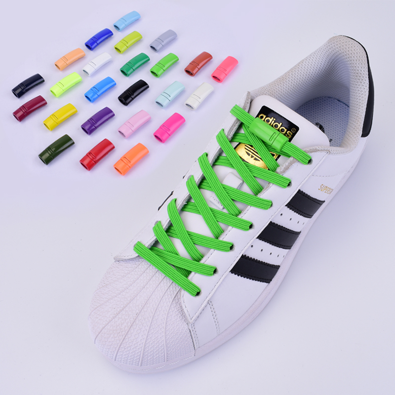 1Pair Magnetic ShoeLaces Elastic Locking ShoeLace Special Creative No Tie Shoes Lace Kids Adult Unisex Sneakers Laces Strings