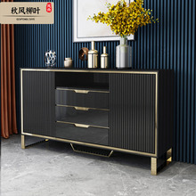 Wine-Rack Sideboards Table Cabinet Light Post-Modern Living-Room Luxury Porch Tea-Paint