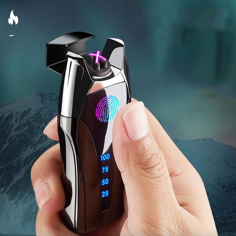 Перезаряжаемая USB Зажигалка для зарядки, плазменная дуговая Индукционная ветрозащитная электронная ультратонкая металлическая зажигалка ...