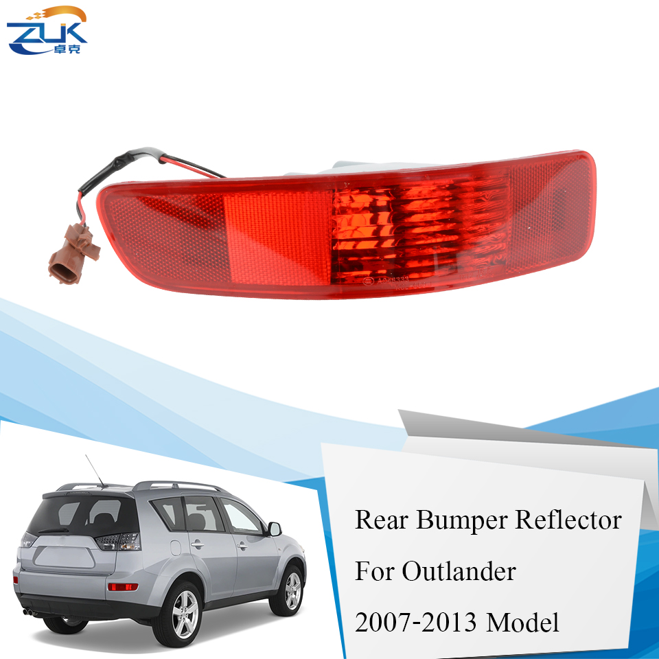ZUK Rear Bumper Fog <font><b>Light</b></font> Fog Lamp Reflertor For <font><b>Mitsubishi</b></font> <font><b>Outlander</b></font> 2007 <font><b>2008</b></font> 2009 2010 2011 2012 2013 8337A015 8355A004 image