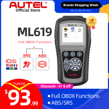 Autel MaxiLink ML619 ABS SRS Diagnostics Scanner OBD2 Code Reader Diagnostic Scan Tool OBD Autoscanner Auto Airbag Diagnosis