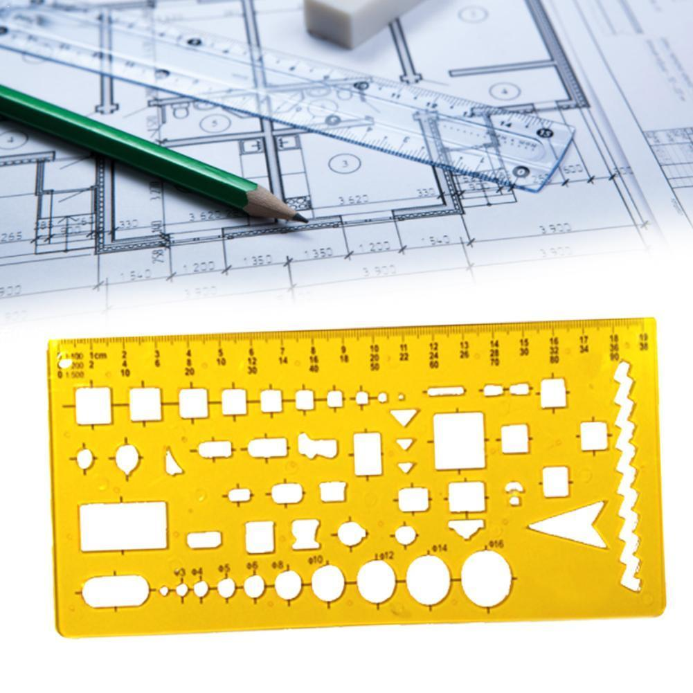 New Resin Circles Geometric Template Ruler Stencil Tool New Design Students Measuring Drawing E7Y6