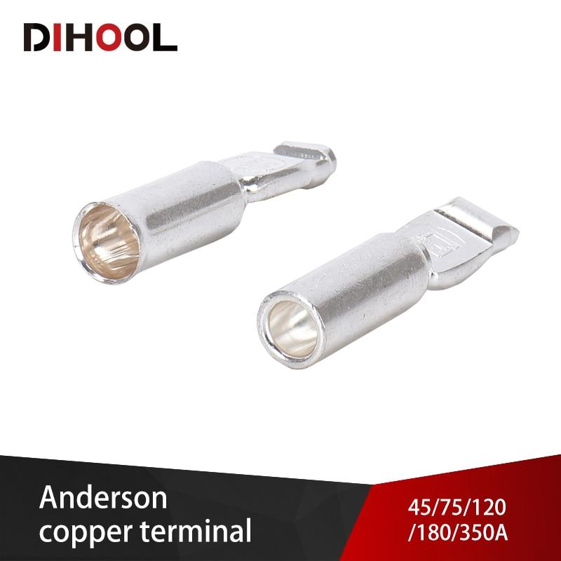 Anderson Power Connectors Copper Terminals 45A 75A 120A 180A 350A AC DC For Electric Car Battery Plug Socket