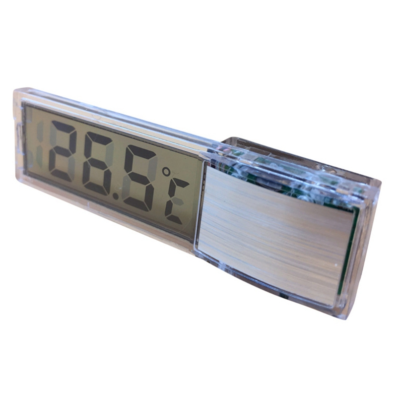 Digital Electronic Transparent Aquarium Thermometer Plastic Metal 3D Fish Tank Temp Meter Electronic Naked Eye Temperature