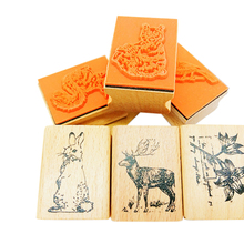 1pcs/lot Cute Forest Animals Series Vintage Seal Wooden Stamp DIY For Scrapbooking Stationery