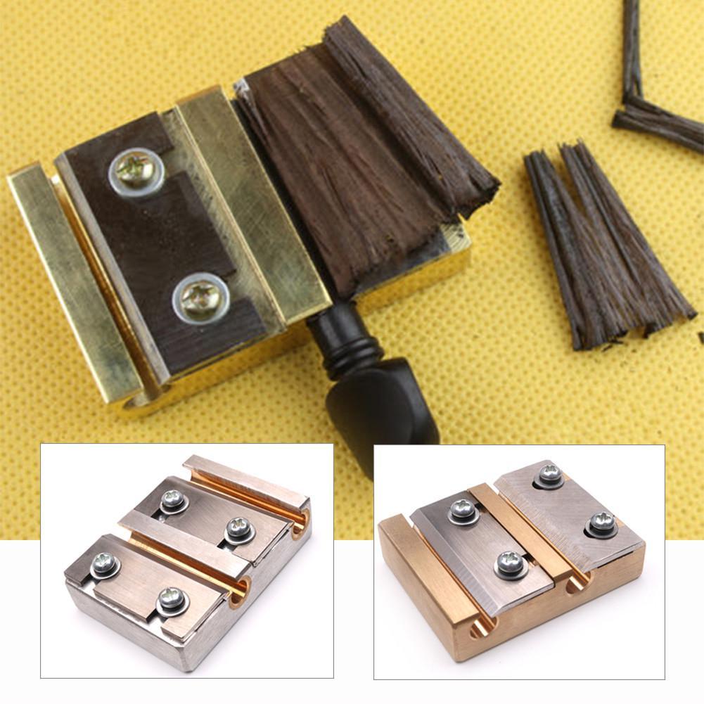 Professional 4/4 3/4 Violin Peg Shaver Steel Blade Luthier Tool Brass Violin Making Tools