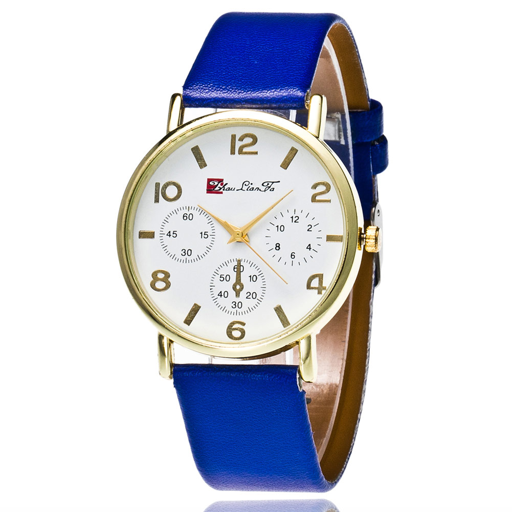 Fashion Couple Watches Round Dial Leather Strap Casual Electronic Watch Classic Alloy Ladies Male Quartz Watches  LXH