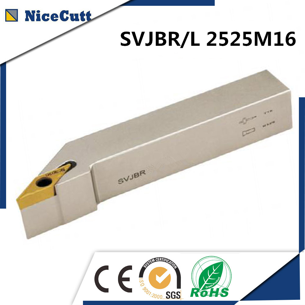 Nicecutt SVJBR2525M16 SVJBL2525M16 External Turning Tool Holder Machine Holder VBMT Insert Lathe Cutting Tool Freeshipping