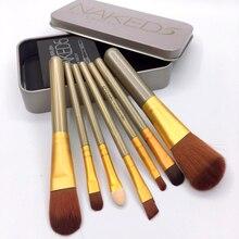7PCS Set Make Up Face Makeup Brush Fashion Eyes With Lovely Travel Case Box HIAISB