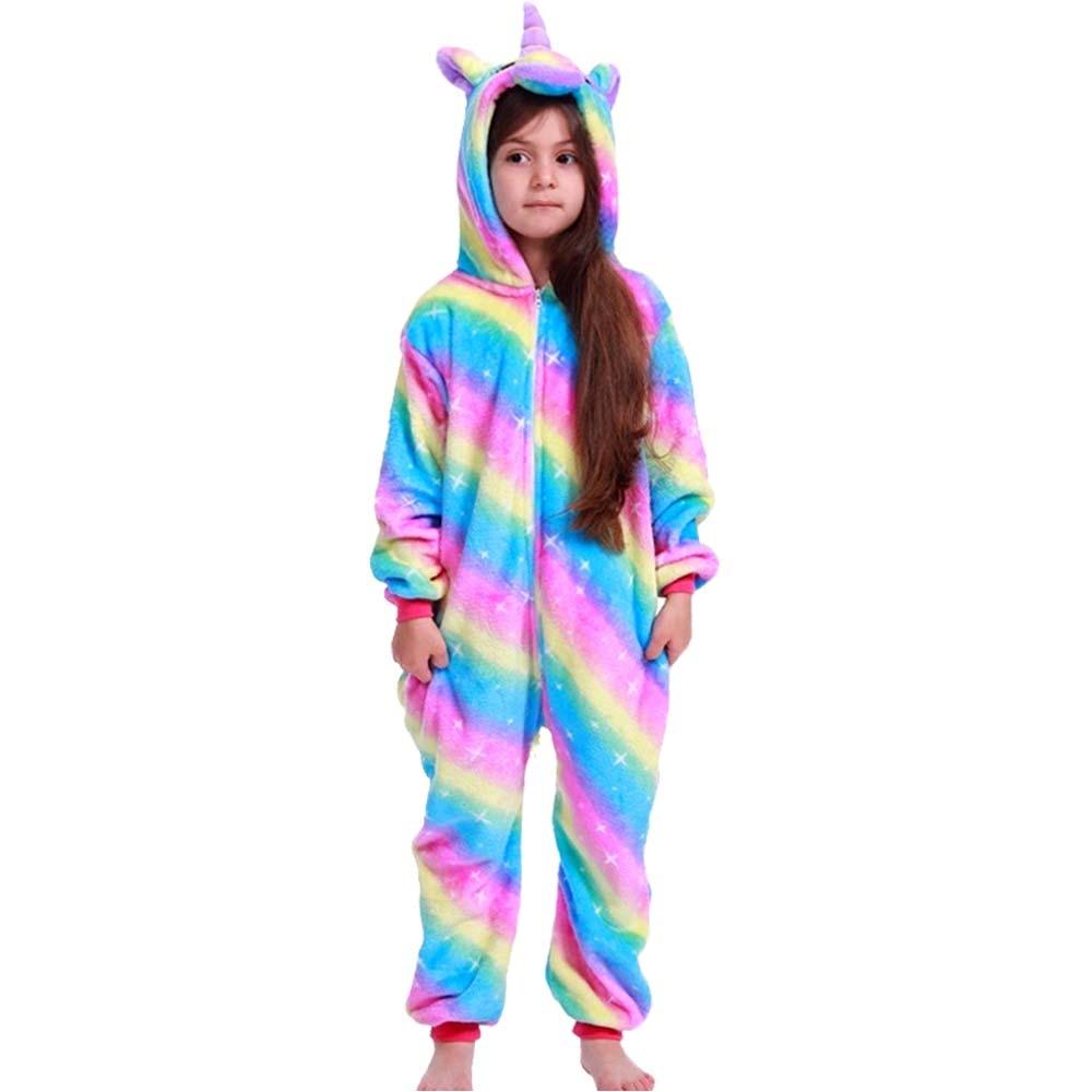2021 Children Onesie Kids Unicorn Panda Pajamas Animal Cartoon Blanket Sleepers Baby Costume Winter Boys Girls Licorne Jumspuit 4