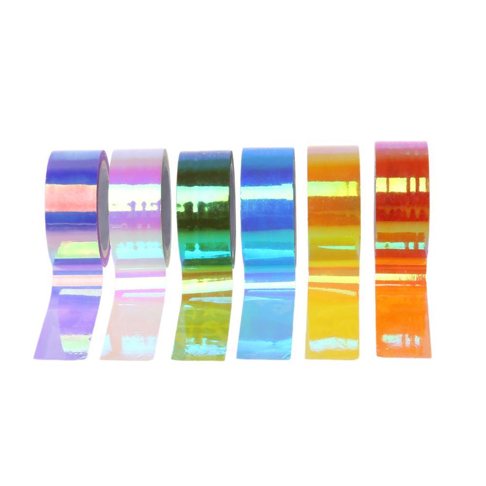Rhythmic Gymnastics Decoration Holographic RG Prismatic Glitter Tape Hoops Stick High Quality PE HBB