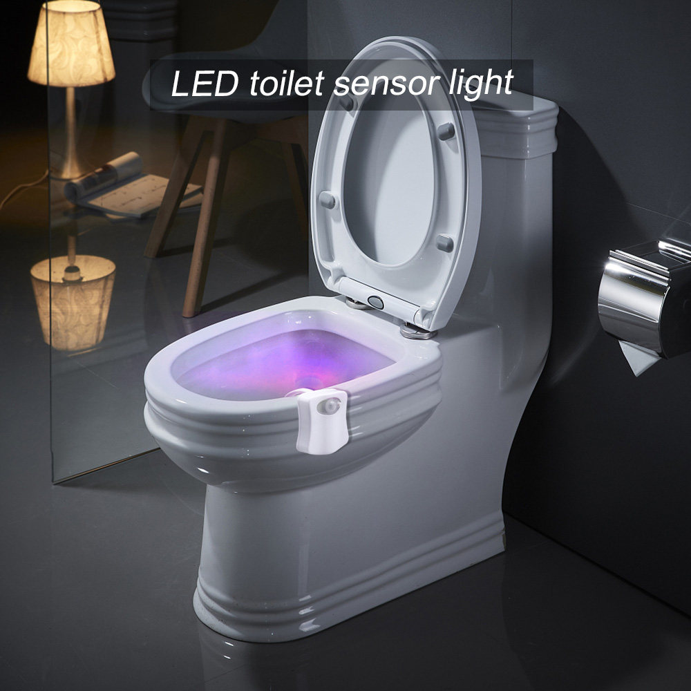 LED Toilet Seat Night Light PIR Motion Sensor 8 Colors Waterproof Backlight  Automatic Change Changeable WC Toilet Bowl Lamps|LED Night Lights| -  AliExpress