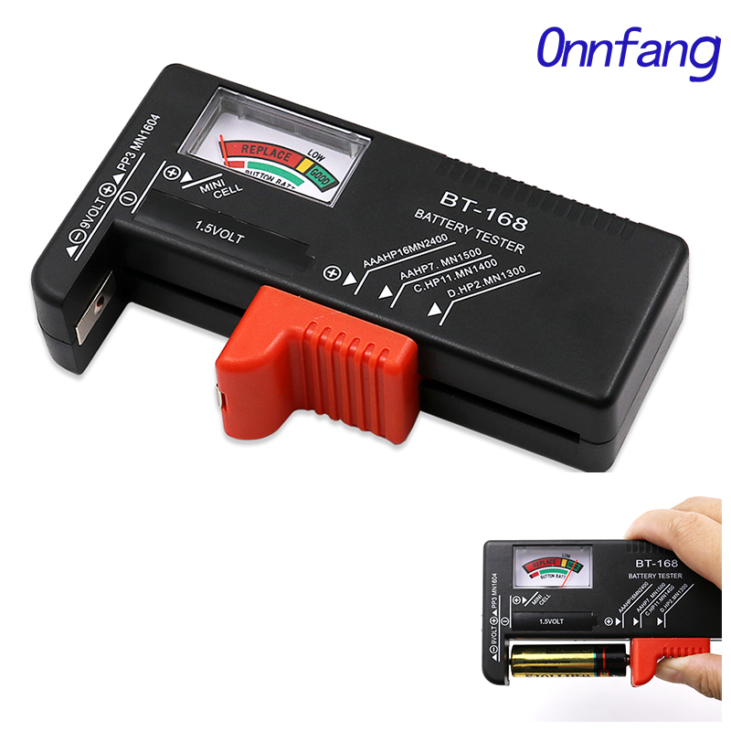 Enthusiastic Onnfang Batteries Testers Aa/aaa/c/d/9v/1.5v Universal Button Cell Battery Colour Coded Meter Indicate Volt Battery Tester Check Warm And Windproof