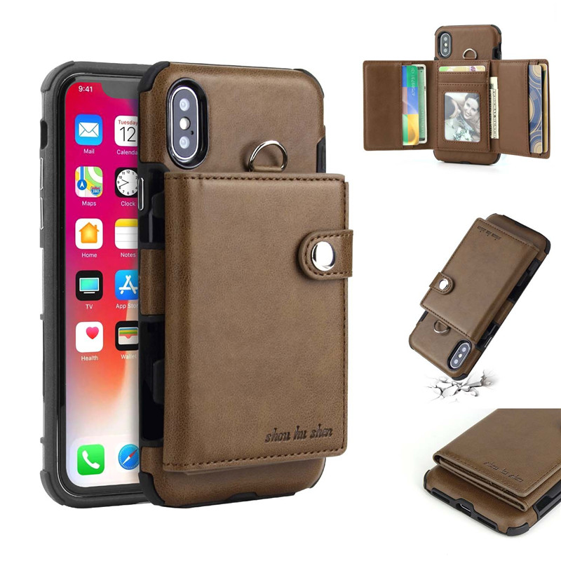 H7c3cbb1dc08b4f139591861c264f88dcI Tikitaka Wallet Leather Phone Case For iPhone 6 6s Plus X XS XR Multifunction Card Slots Flip Cover For iPhone XS MAX 8 8 Plus