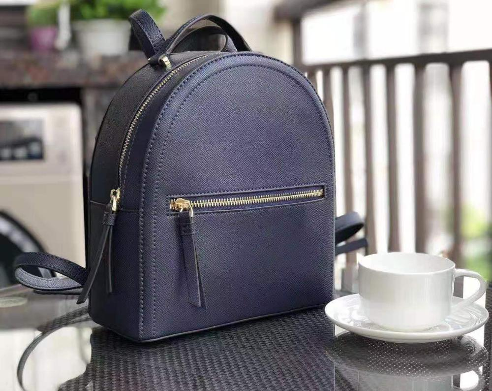 Backpack Bagpack Zipper Bag Casual 2019 Women For Teenager Female Solid Arcuate Shoulder Strap Soft Handle Interior Pocket PU