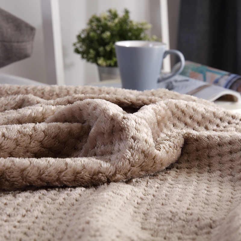 BeddingOutlet flanelowy koc polarowy miękki koc jednokolorowy narzuta pluszowa obudowa na kanapa z funkcją spania prezent na boże narodzenie Dropship