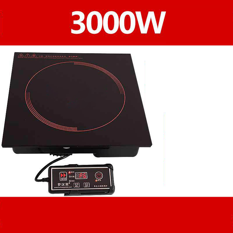 Hot Pot Embedded Electromagnetic Furnace Small Hot Pot Electromagnetic Furnace High Power Wire Control 3000W  Hotpot