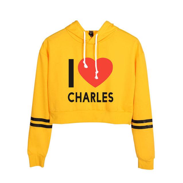JAMES CHARLES CROP TOP HOODIE (30 VARIAN)