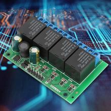 цена на DC 6-24V 4 Channels Flip-Flop Latch Relay Module Low Pulse Trigger Self-locking Relay Module