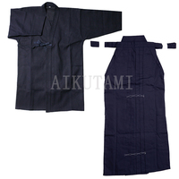 Japanese Kendo Aikido Hakama Suit Top Shirt+Hakama Set Cotton Judo Wushu Clothing Kung Fu Uniform Martial Arts Uniform