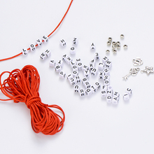 DIY Acrylic Square Letter Beads For Jewelry Making Bracelet Set Heart Key Star Handmade Rope Name Letter Finding Accessories