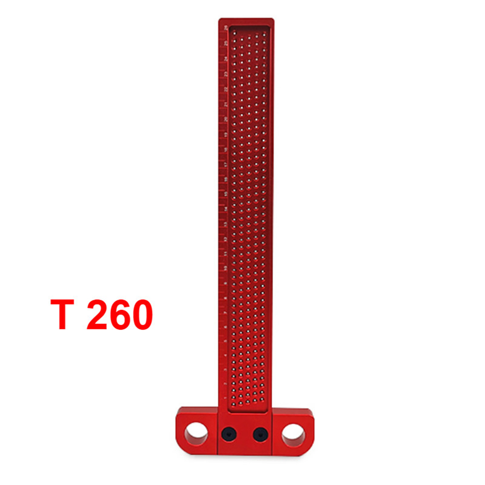Woodwork Type T-Type Metal Ruler Hole Transcribe Wood Cross Measuring Tool Optional Types T-100 160 260