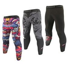 Мужские дышащие эластичные леггинсы SOTF для бега и бега, Компрессионные спортивные облегающие брюки для фитнеса и тренировок в тренажерном ...