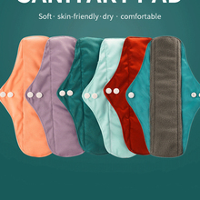 Happyflute 10 шт. бамбуковые угольные прокладки многоразовые прокладки гигиенические прокладки Моющиеся Прокладки для трусиков мама для беремен...