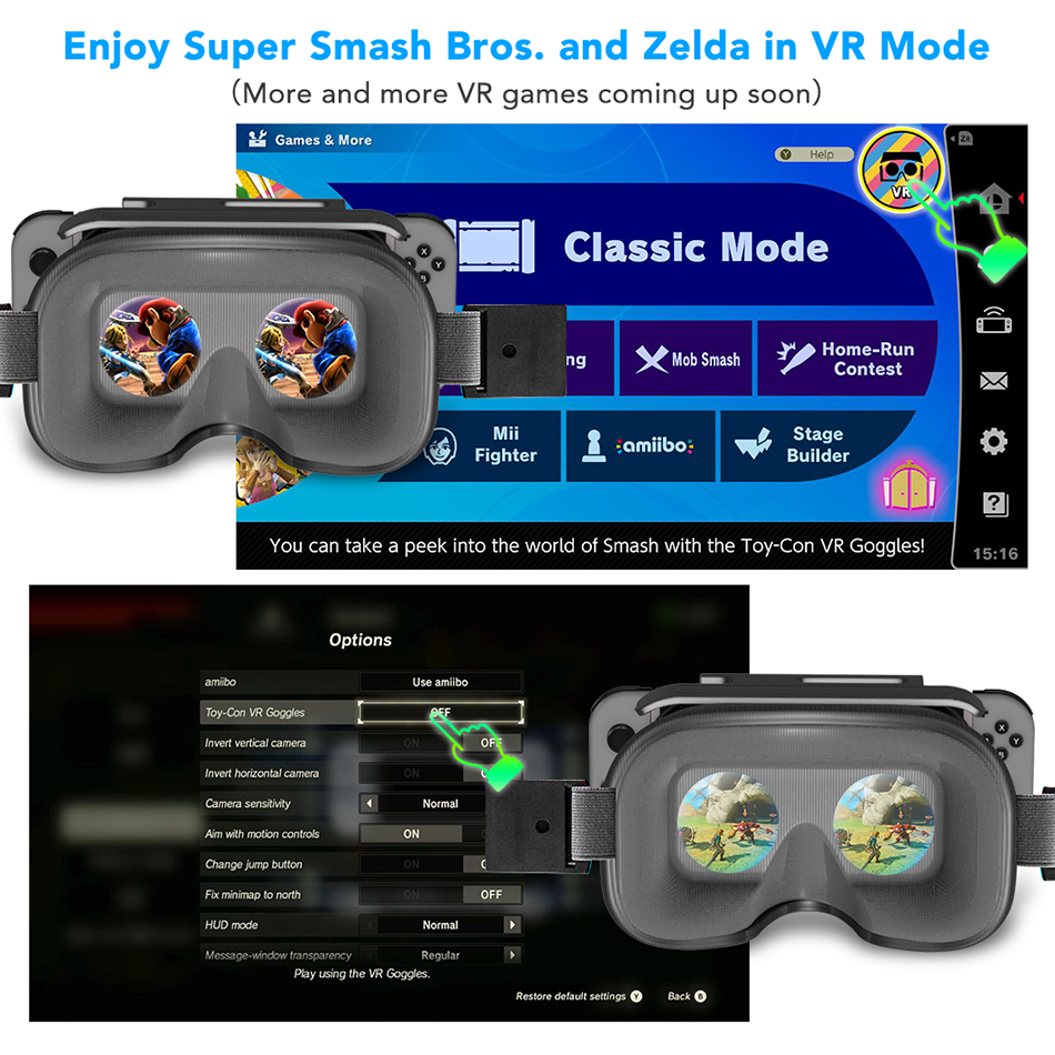 OIVO Switch VR Headset for Nintend Switch LABO VR Big lens Virtual Reality Movies Switch Game 3D VR Glasses for Odyssey Games 2