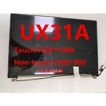 13.3-inch laptop LCD Screen for Asus ZenBook UX31A Assembly Upper Half Set LED Matrix display replacement touch screen replaceme neothinking lcd display laptop lp140wd2 tl e2 touch screen for lenovo x1 carbon 3444 25u lcd screen matrix replacement panel