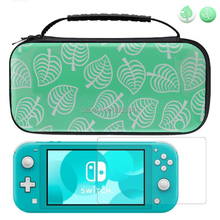For Nintend Switch Lite Case Hard Travel Carrying Storage Bag Tempered Glass Screen Protector For NX & Joycon Grips Accessories