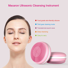 Face Cleaning Mini Ultrasonic Electric USB Rechargeable Massage Brush Cleansing Machine Waterproof Silicone Washing Tools innovative mini ultrasonic washing machine travel portable usb electric small washing machine students household cleaning