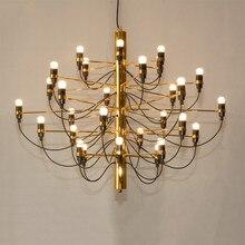 Nordic moderno simples criativo 18/30 /50 lâmpadas led lustres de metal ouro pingente luxo para sala estar quarto ining hotel