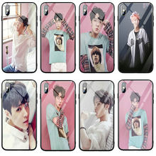 Fashion Exo Kpop Tempered Glass Phone Cases for iPhone X XR XS 11 Pro Max 8 8Plus 7 7Plus 5 5S SE 6 5 5S SE 6S 6Plus 6SPlus Bags(China)