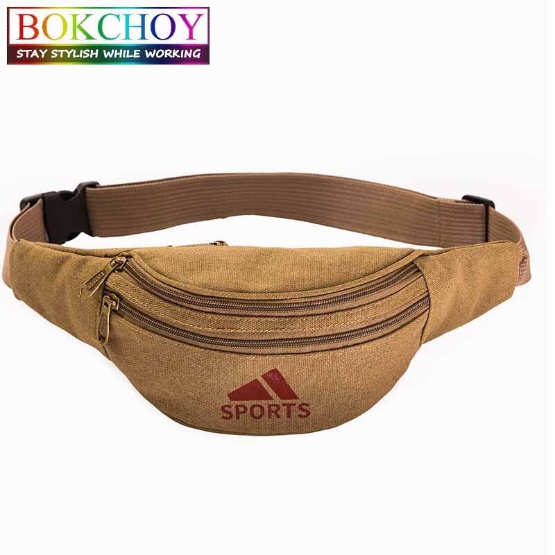 Vintage Waist Pack , 2 Pockets, Round Belt Bag, Caver Waist Bag Multiple Usage, For Travel Work, Money Bag Belt
