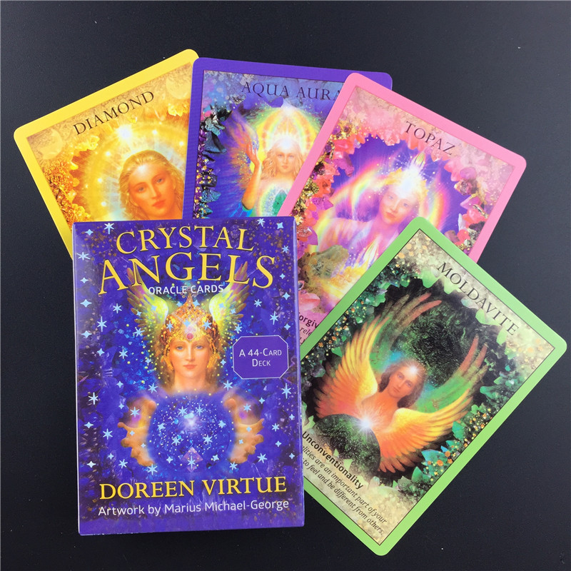 Crystal Angel Oracle Cards English Version Board Game Tarot Card Durable Fashionable Tarot Cards With Beautiful Painting