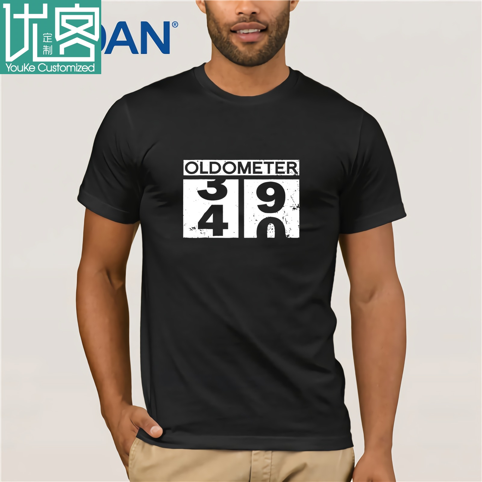 Oldometer 40 Shirt 40th Birthday Gift Men Women Funny Shirts 2019 Summer Herren Classic Short Sleeve T-Shirt Tee