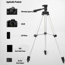 מקצועי חצובה עבור טלפון נייד מצלמה מתכוונן אלומיניום תמיכה סטודיו Selfie וידאו צילום תאורה מחזיק NE031