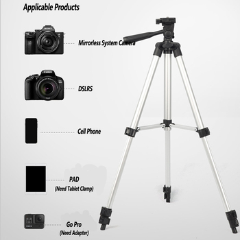 Professional Tripod For Mobile Phone Camera Adjustable Aluminum Support Studio TikTok Youtube Photography Lighting Holder NE031