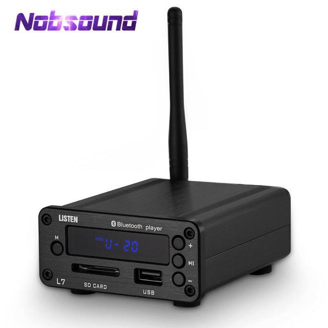 Nobsound receptor de Audio HiFi con Bluetooth 5,0, reproductor de música estéreo DAC, USB, Radio FM, auriculares, compatible con disco en U SD