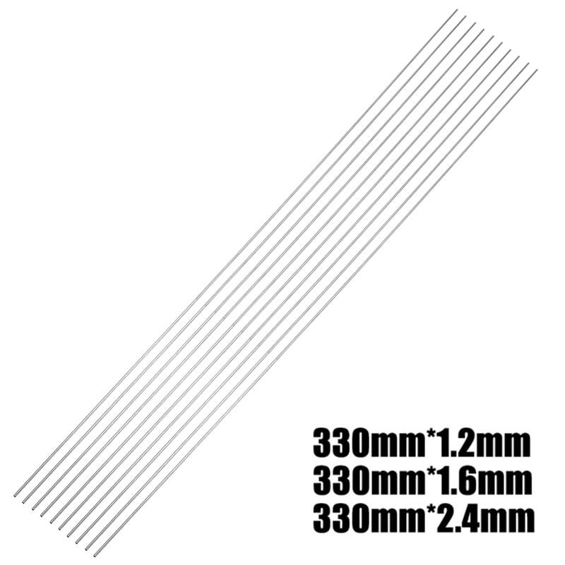 10Pcs 330mm Low Temperature Stainless Steel TIG Welding Rods Filler Welding Sticks Soldering Supplies