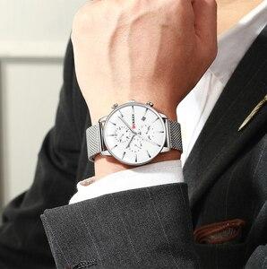Image 5 - CURREN reloj militar de cuarzo para hombre, reloj masculino de pulsera de acero inoxidable, con fecha